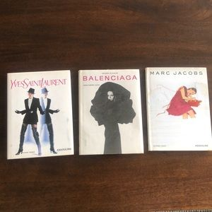 YSL, Balenciaga and Marc Jacobs hard cover books